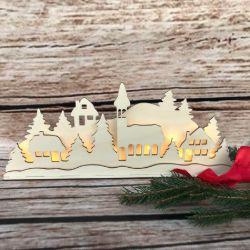 Dekoracja - Zimowa wioska