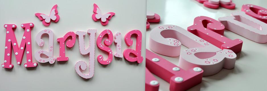 Literki 3D z imieniem Twojej pociechy
