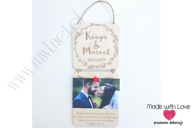 Życzenia na ślub z miejscem na zdjęcie