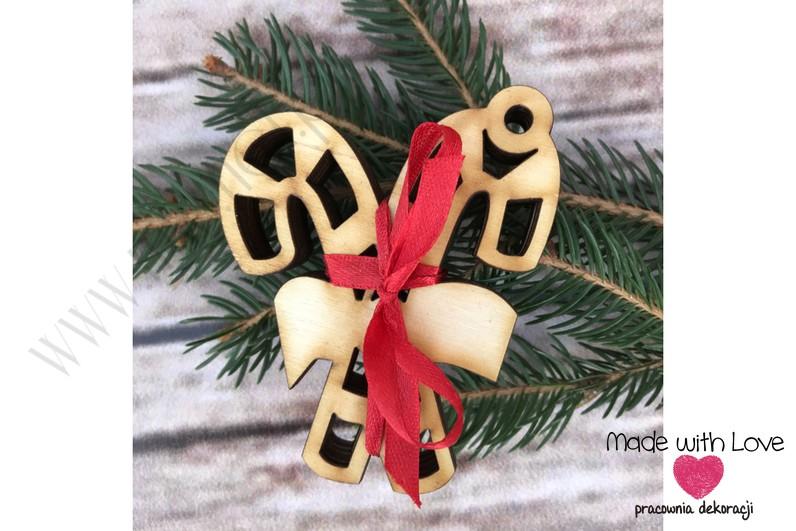 Zestaw zawieszek - lizaki świąteczne