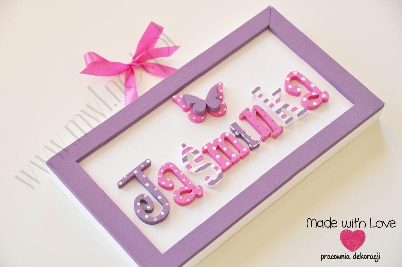 Tabliczka z imieniem dziecka - wzór T5 jaśminka jaśminka