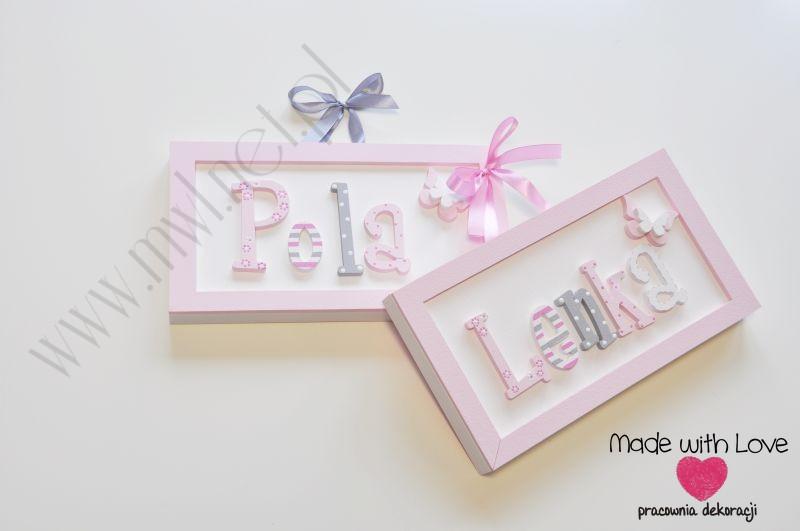 Tabliczka z imieniem dziecka - wzór T8 pola lenka gengawa róże