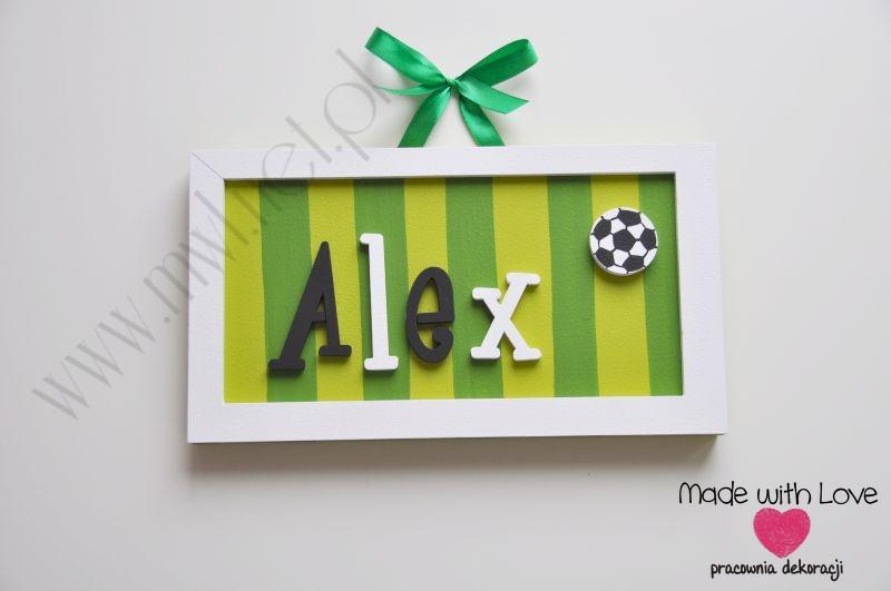 Tabliczka z imieniem dziecka - wzór T13 alex alex