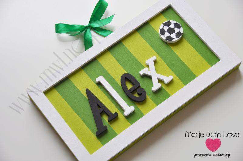 Tabliczka z imieniem dziecka - wzór T13 alex