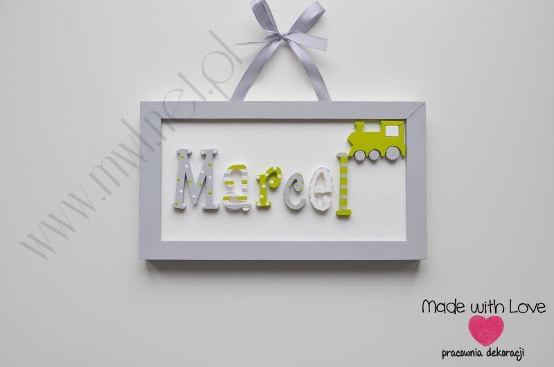 Tabliczka z imieniem dziecka - wzór T21 marcel marcel