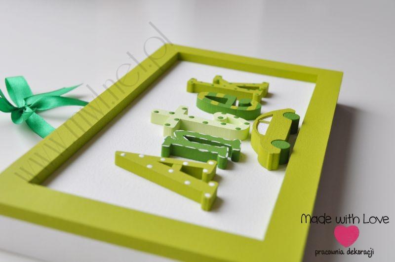 Tabliczka z imieniem dziecka - wzór T23 antek