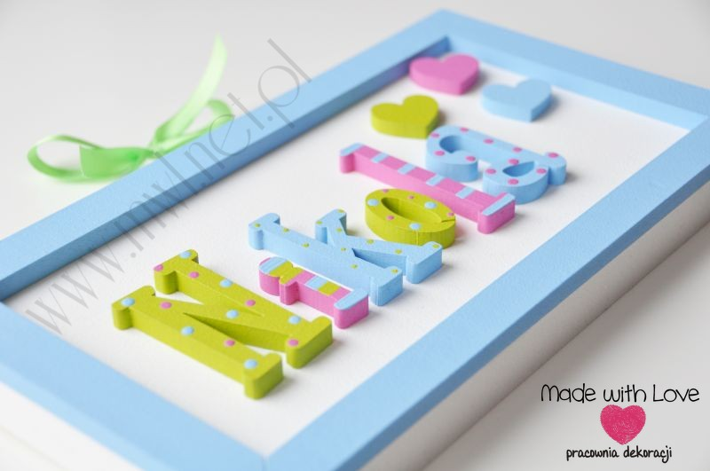 Tabliczka z imieniem dziecka - wzór T24 nikola2 nikola