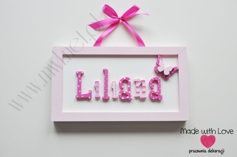 Tabliczka z imieniem dziecka - wzór T28 liliana liliana