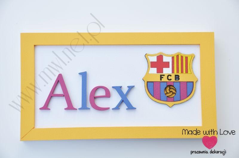 Tabliczka z imieniem dziecka - wzór T37 alex alex