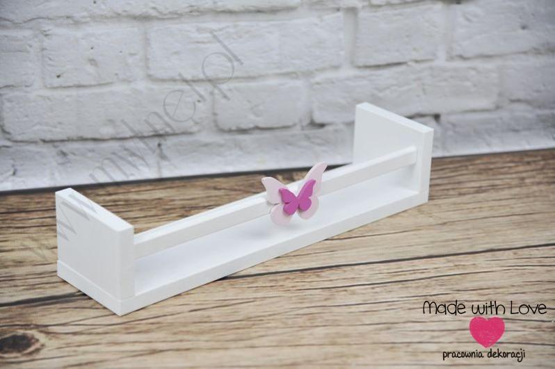 Półka na książki PK1 - różowy motylek