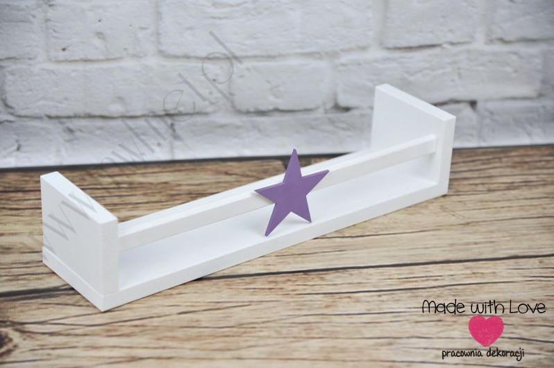 Półka na książki - PK2 - fioletowa gwiazdka