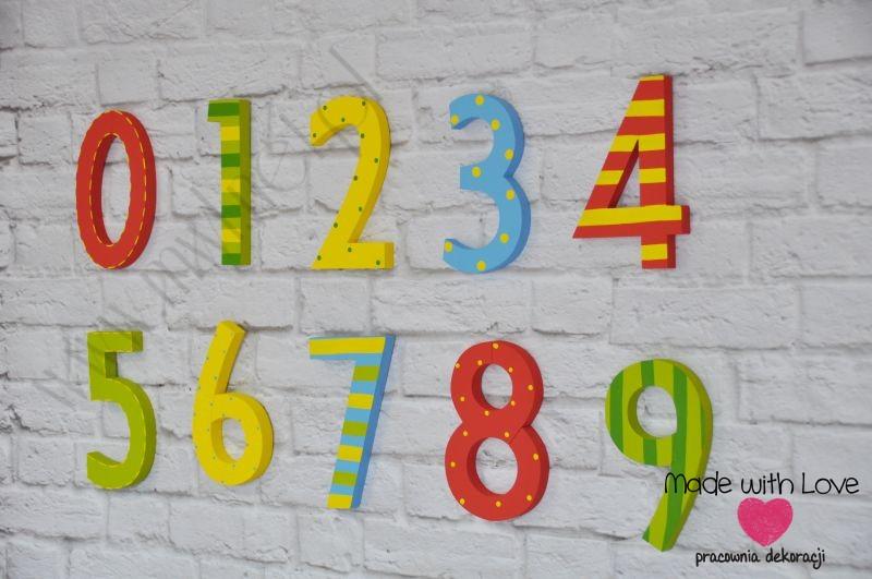 Cyferki 0-9 wzór 1