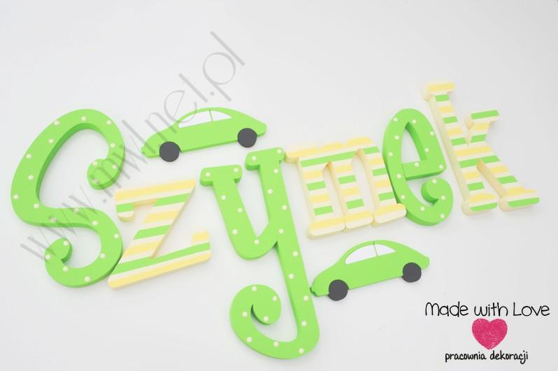 (25) Imię Szymek - zielono-żółty