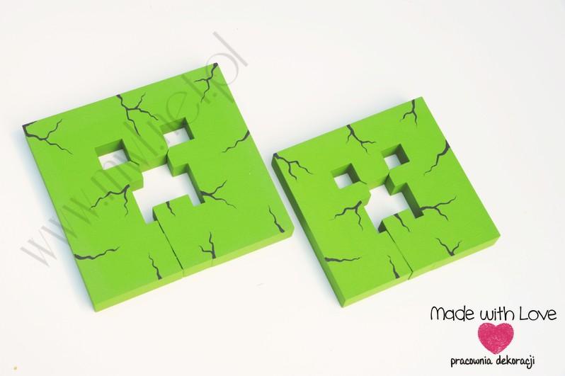 2x dekor MINECRAFT dekoracja creeper zielony(zestaw)