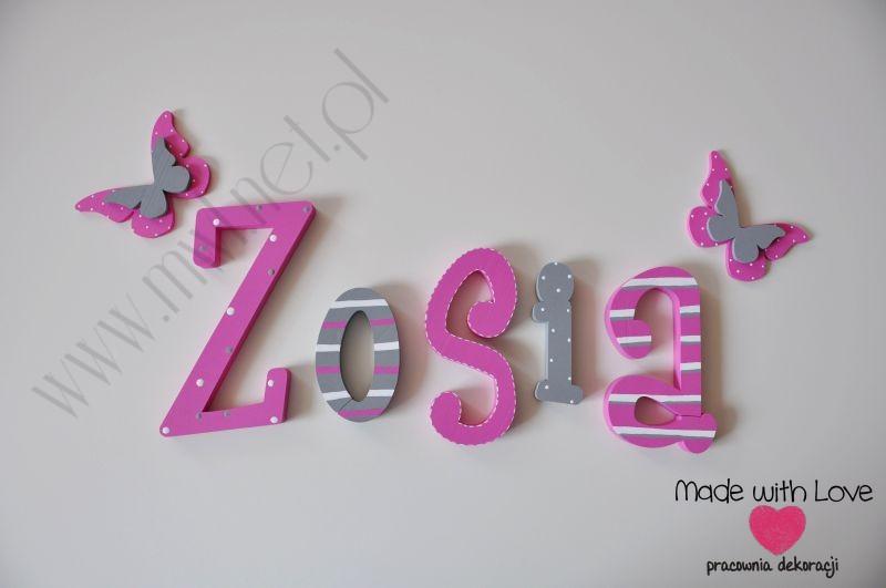 Literki 25 cm - wzór MWL18