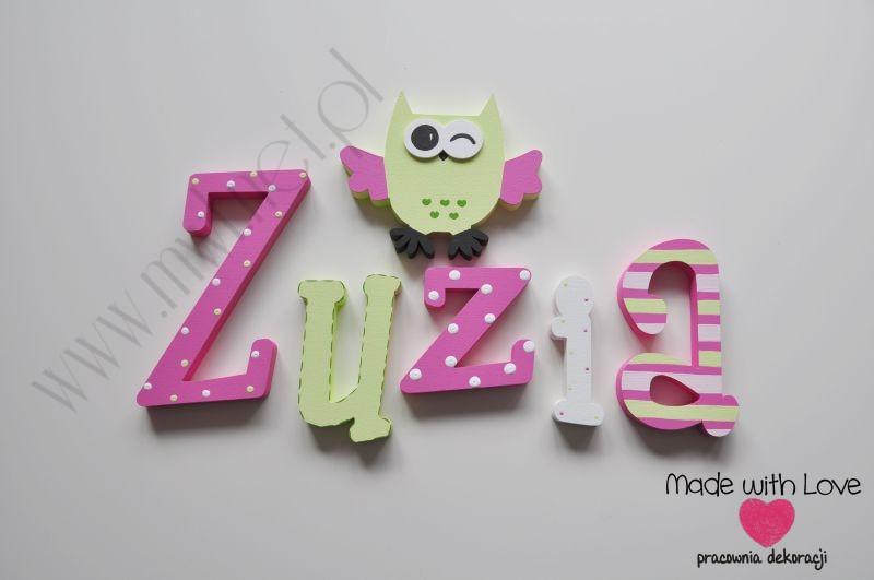 Literki imię dziecka na ścianę do pokoju - 3d 25 cm - wzór MWL19