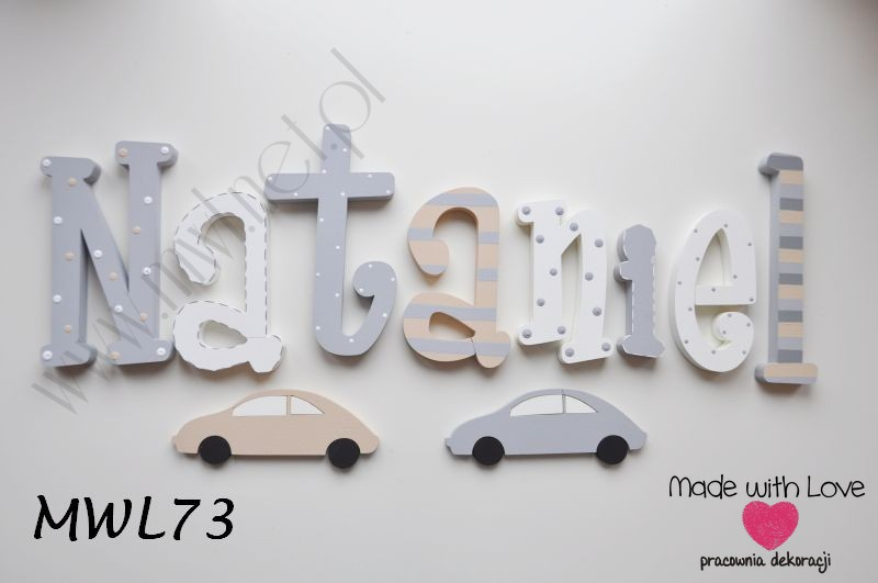 Literki 25 cm - wzór MWL73