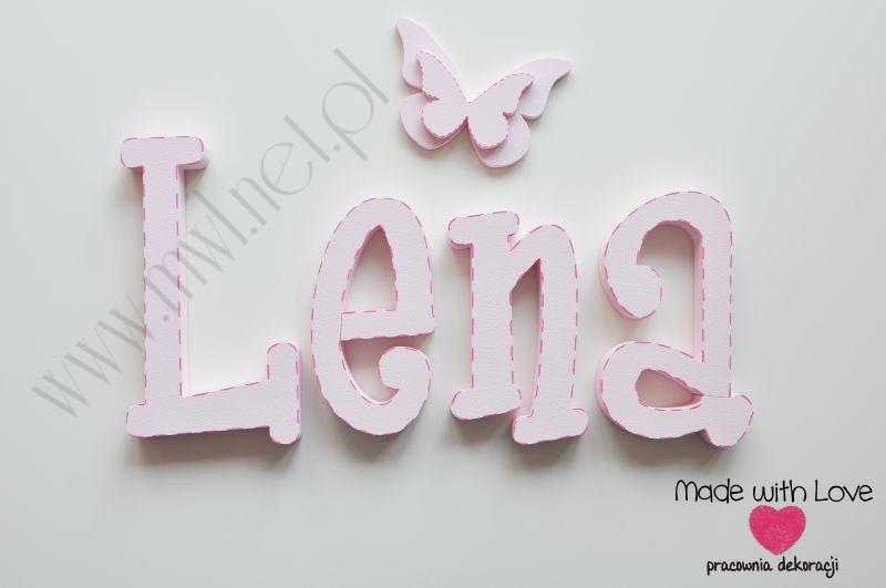 Literki imię dziecka na ścianę do pokoju - 3d 25 cm- wzór MWL89
