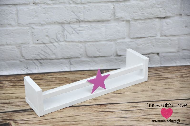 Półka na książki PK1 - różowa gwiazdka