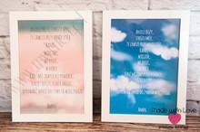 Plakat w ramie - A4 - niebieski