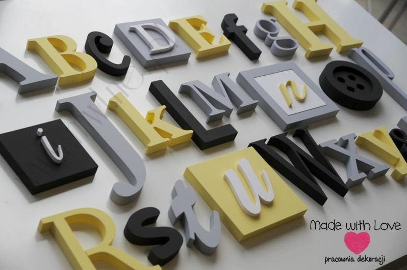 Alfabet 3D - wzór 2