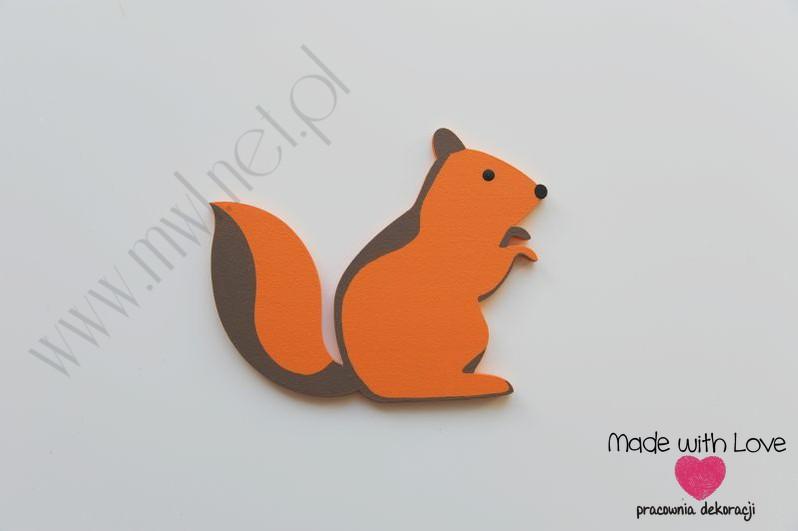 Dekoracja ścienna - wiewiórka (D)