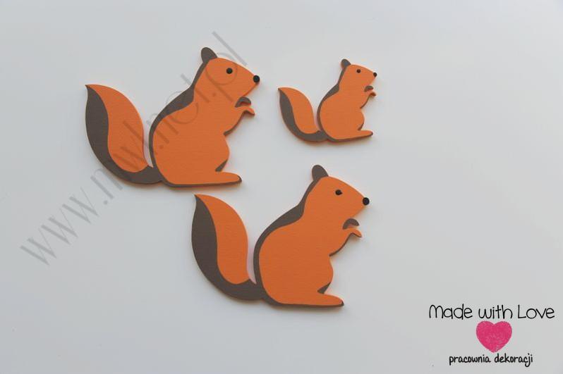 Dekoracja ścienna - wiewiórka - zestaw
