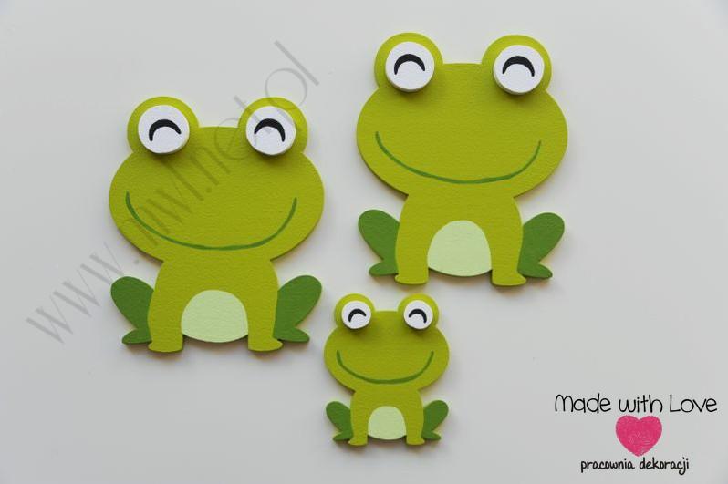 Dekoracje ścienne - żabki - zestaw