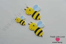 Dekoracja ścienna -pszczółki- zestaw