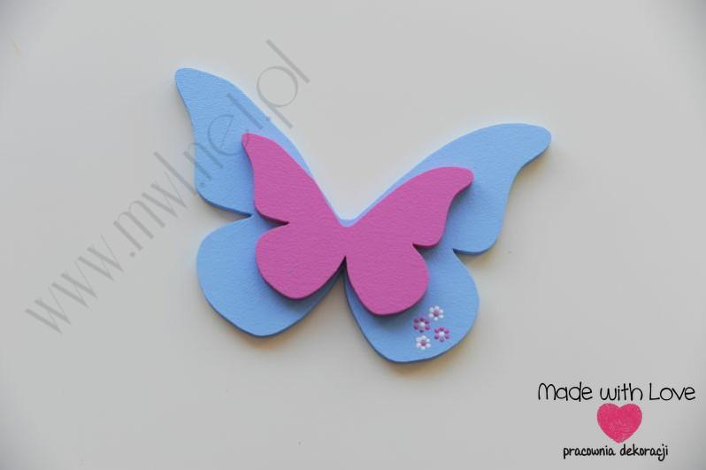Dekoracja ścienna - motylek (M)