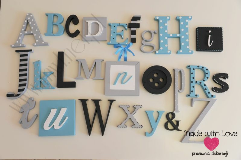 Alfabet 3D XXL - wzór 4