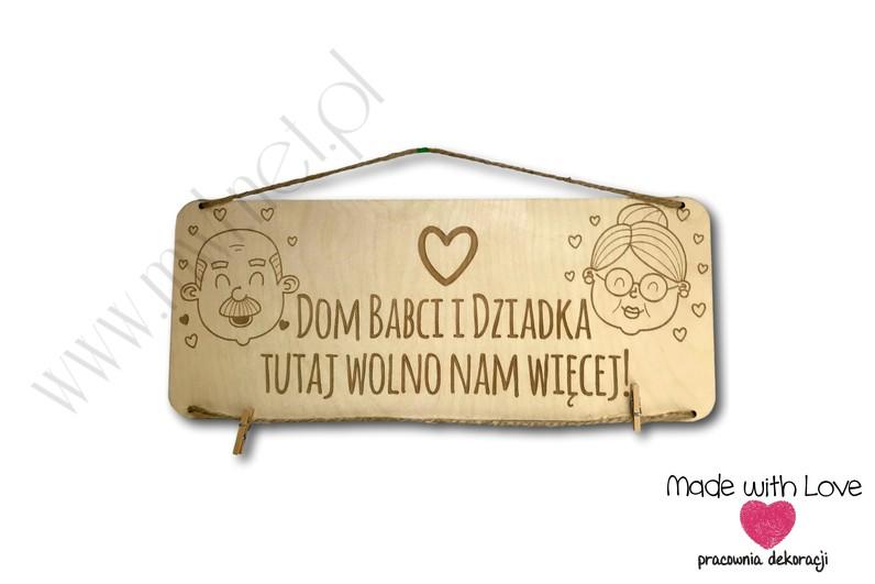 Tablica Dom Babci i Dziadka - wersja 2
