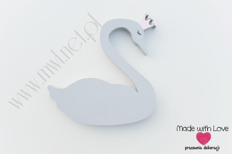 Łabędź - 15cm szary