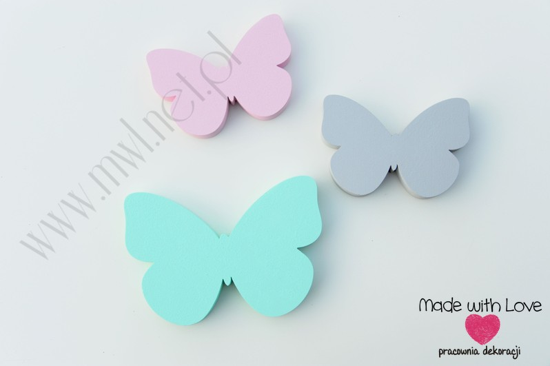 Motyle 1 - zestaw dekoracji 3d