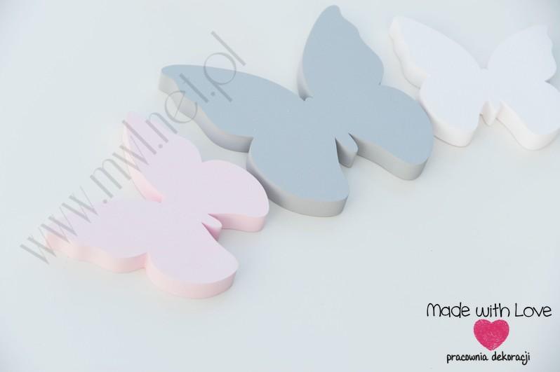 Motyle 2 - zestaw dekoracji 3d